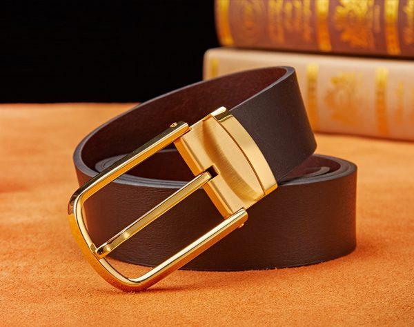 Thắt lưng nam khóa kim vàng